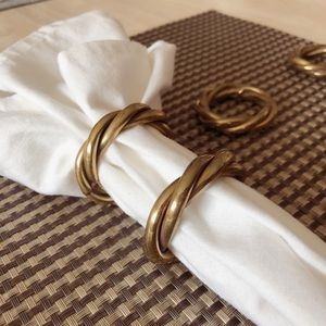 Other - Modern Brass Napkin Rings - Set of 8